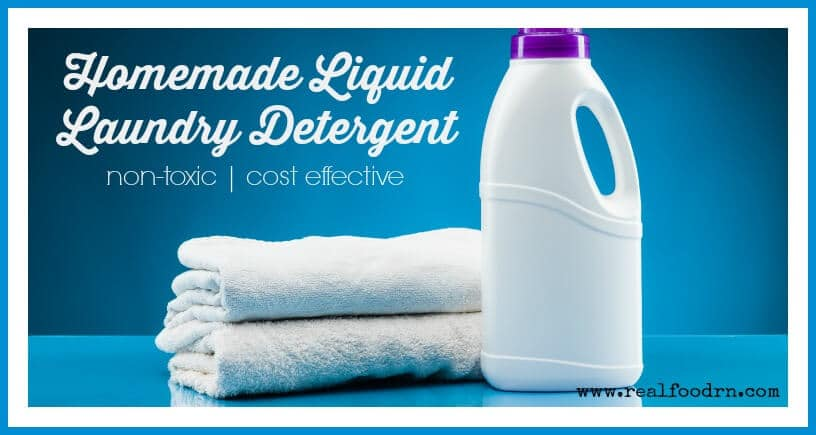 Easy Liquid Homemade Laundry Detergent