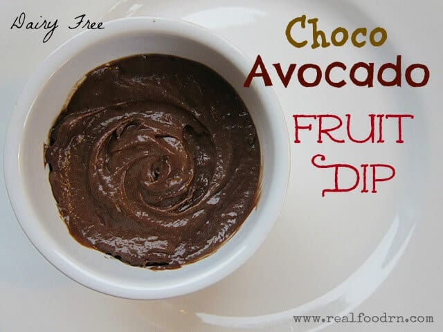 Choco Avocado Fruit Dip | Real Food RN