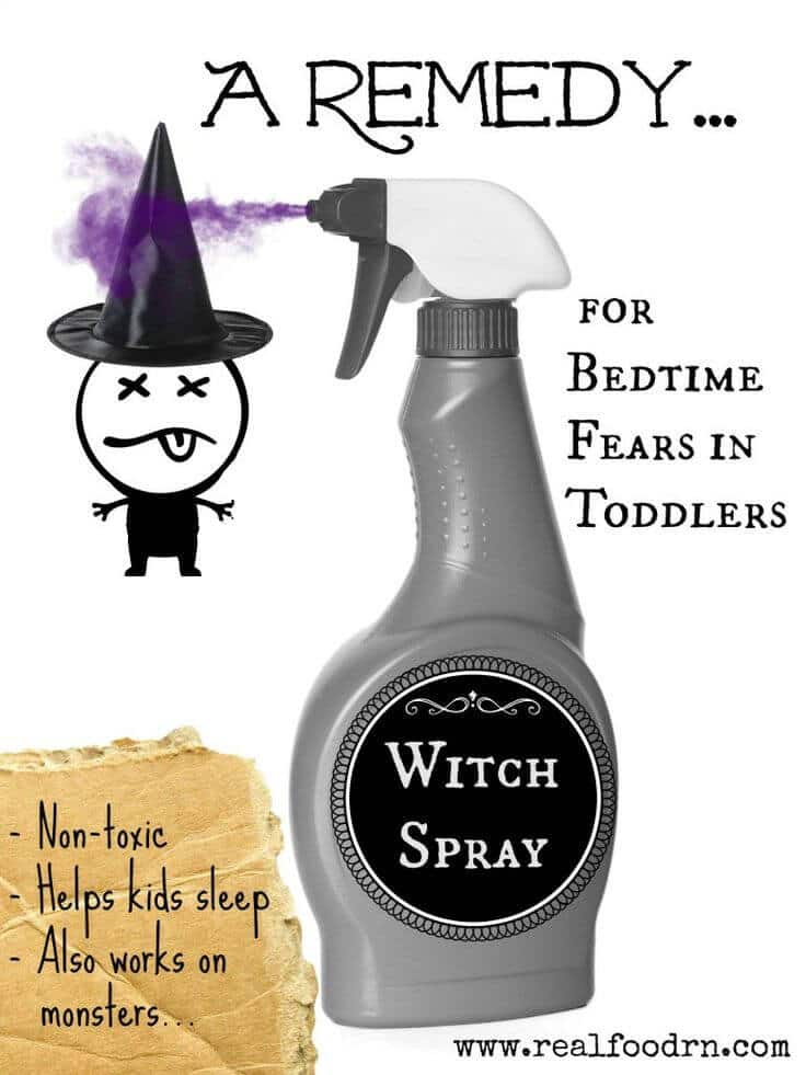 A Remedy For Bedtime Fears in Toddlers (witch spray!) | Real Food RN
