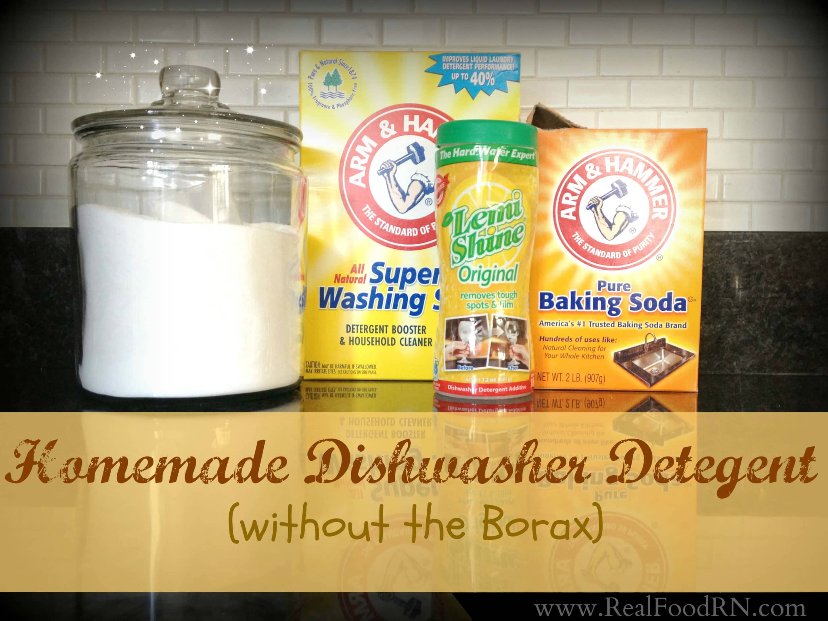 Homemade dishwasher detergent without borax