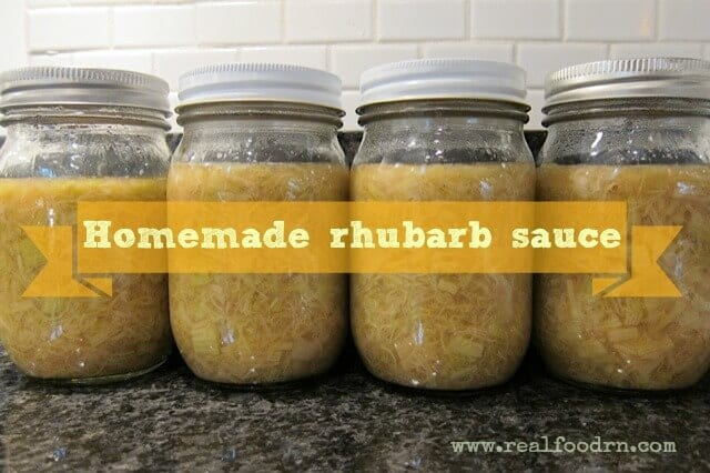 Homemade Rhubarb Sauce | Real Food RN