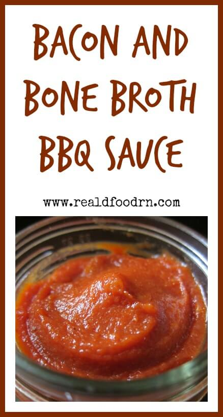 Bacon and Bone Broth BBQ Sauce | Real Food RN