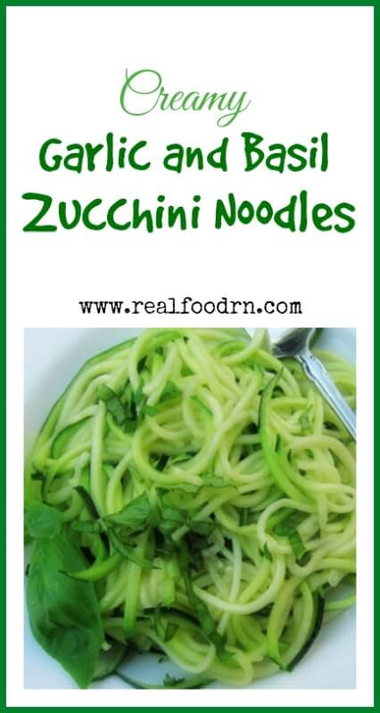Creamy Zucchini and Basil Zucchini Noodles | Real Food RN
