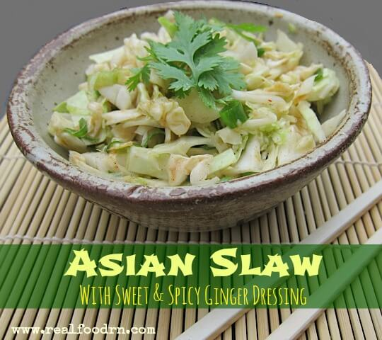 Asian Slaw with Sweet & Spicy Ginger Dressing   Real Food RN
