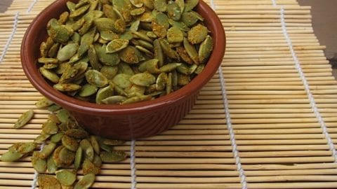 Curry Spiced Pumpkin Seeds