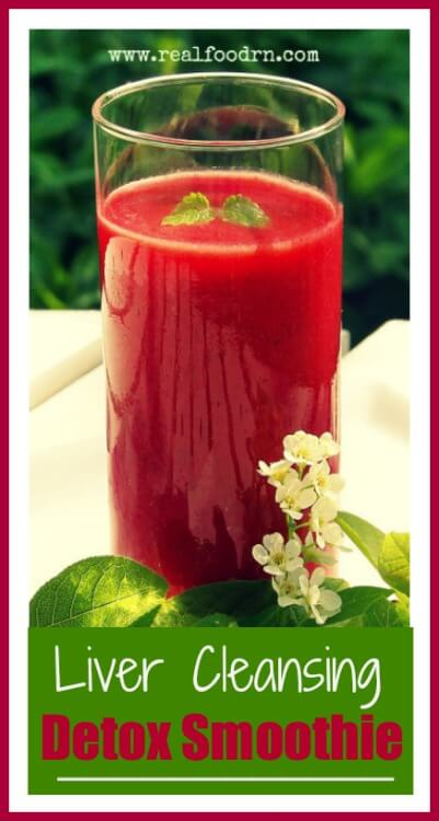 Liver Cleansing Detox Smoothie | Real Food RN