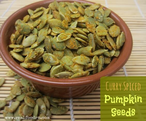 Curry Spiced Pumpkin Seeds   Real Food RN