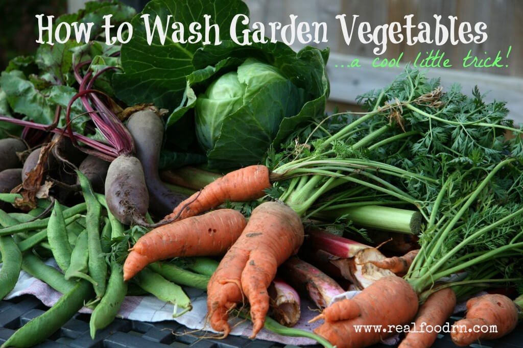 How to Wash Garden Vegetables | Real Food RN