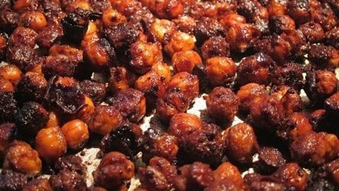 Pumpkin Spiced Roasted Garbanzo Beans