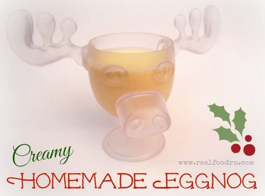 Creamy Homemade Eggnog | Real Food RN