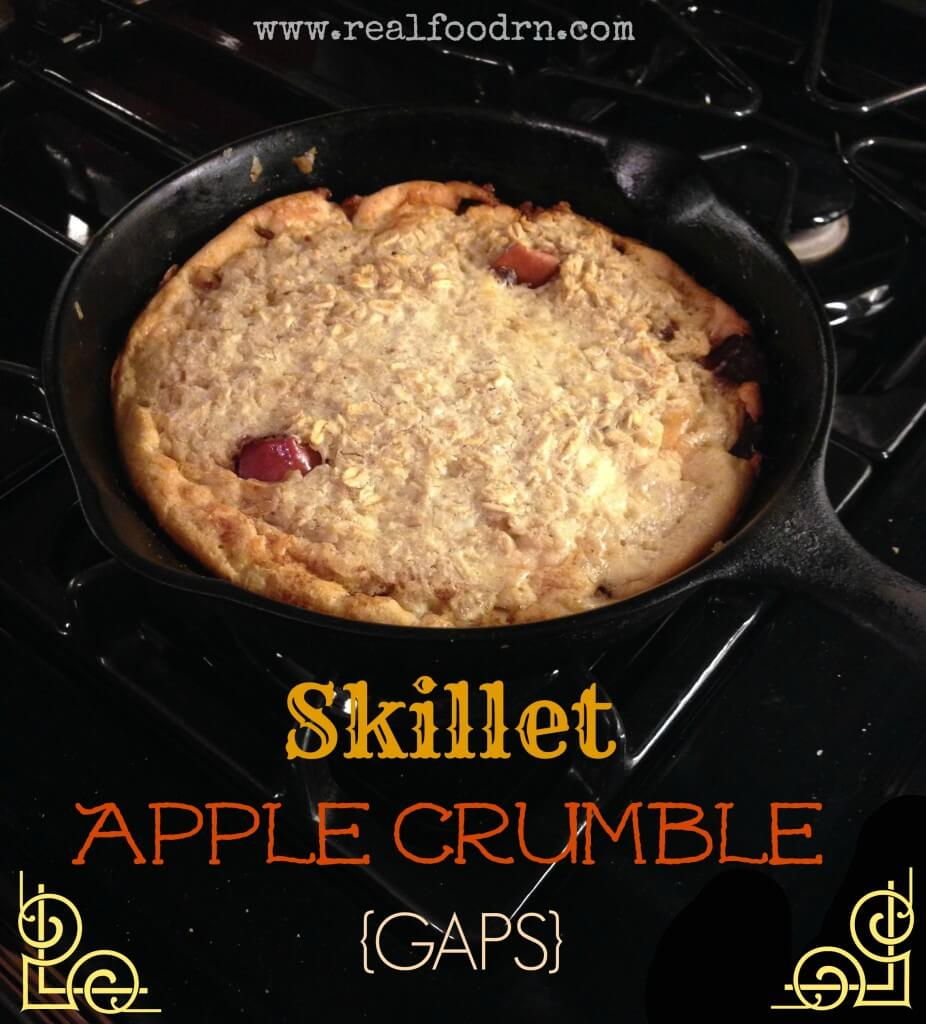 Skillet Apple Crumble {GAPS} | Real Food RN