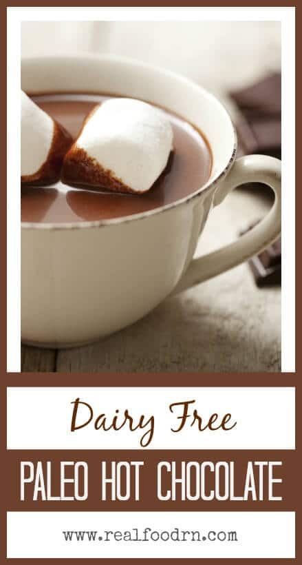 Dairy Free Paleo Hot Chocolate | Real Food RN