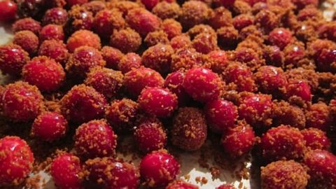 Healthy Sugared Cranberries