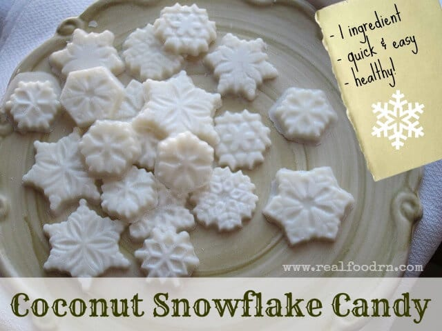 Coconut Snowflakes Candy | Real Food RN
