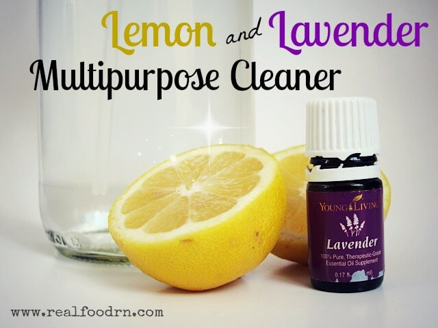 Lemon Lavender Homemade Multipurpose Cleaner | Real Food RN