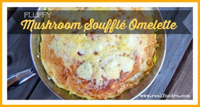 Fluffy Mushroom Souffle Omelette | Real Food RN