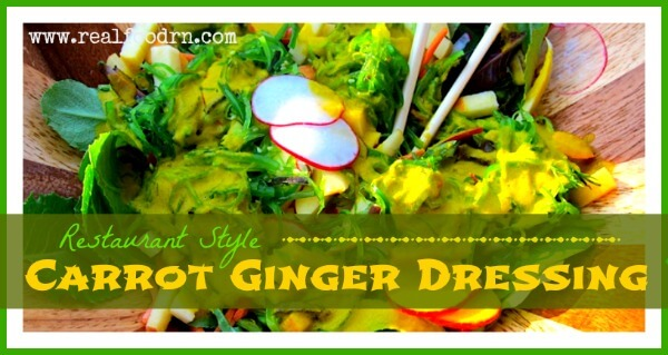 Carrot Ginger Dressing {restaurant style} | Real Food RN