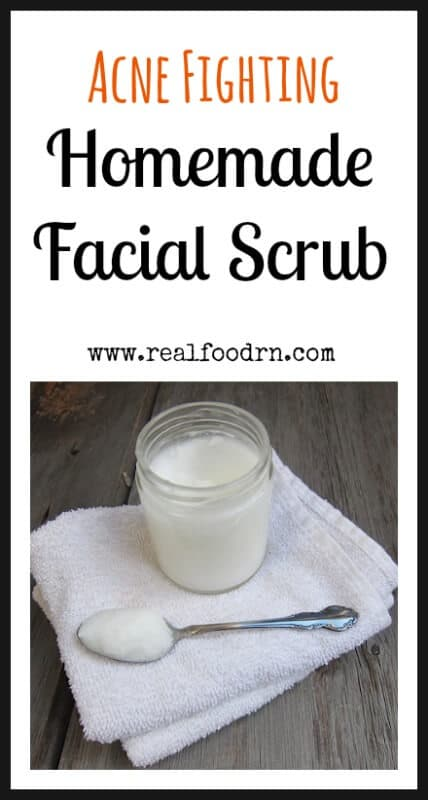 Acne Fighting Homemade Facial Scrub