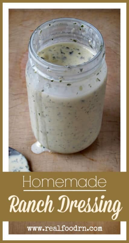 Homemade Ranch Dressing - Real Food RN