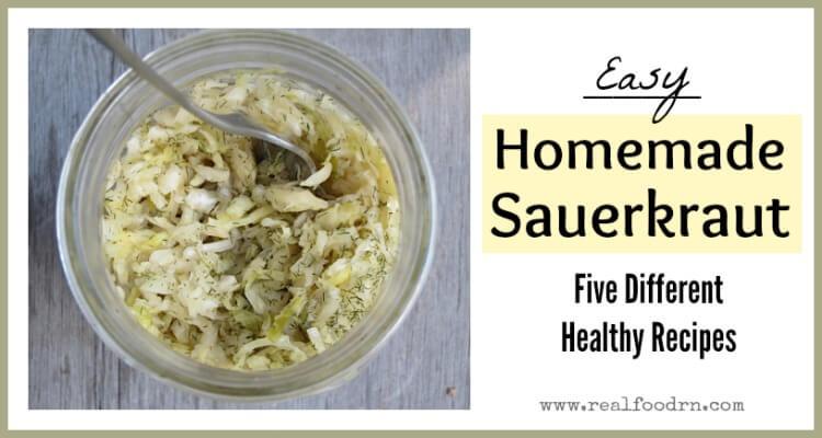 Easy Sauerkraut Recipe | Real Food RN