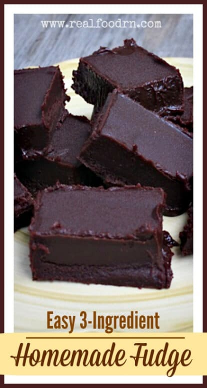 3-Ingredient Homemade Fudge | Real Food RN