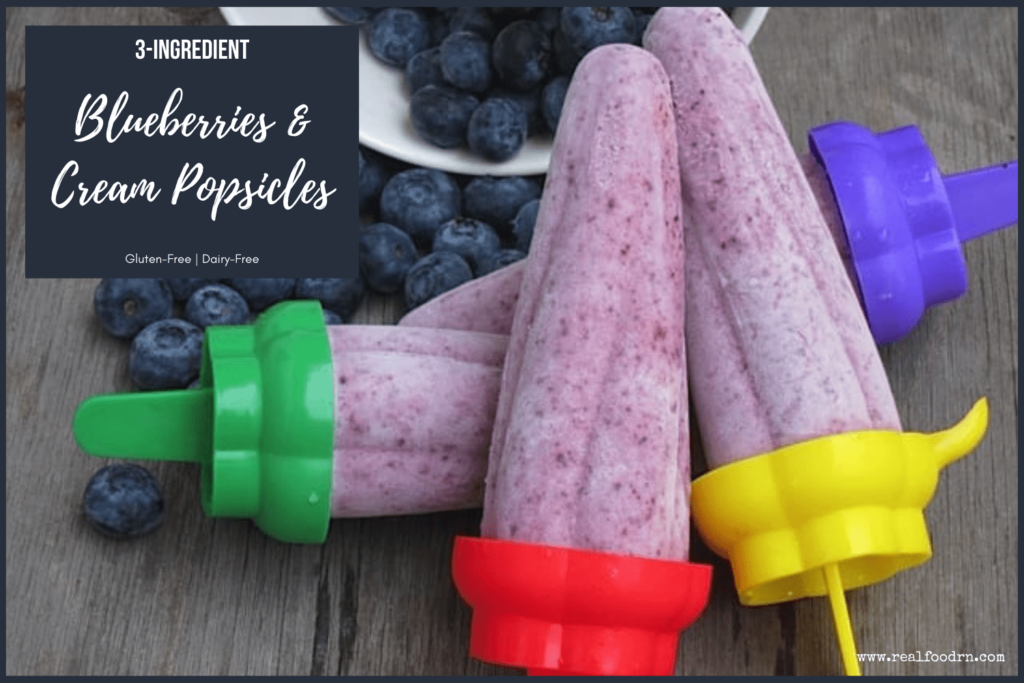 3-Ingredient Blueberries & Cream Popsicles | Real Food RN