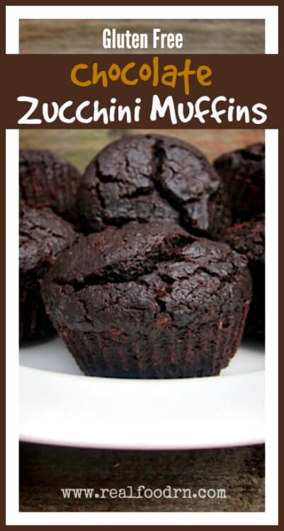 Gluten Free Chocolate Zucchini Muffins |Real Food RN