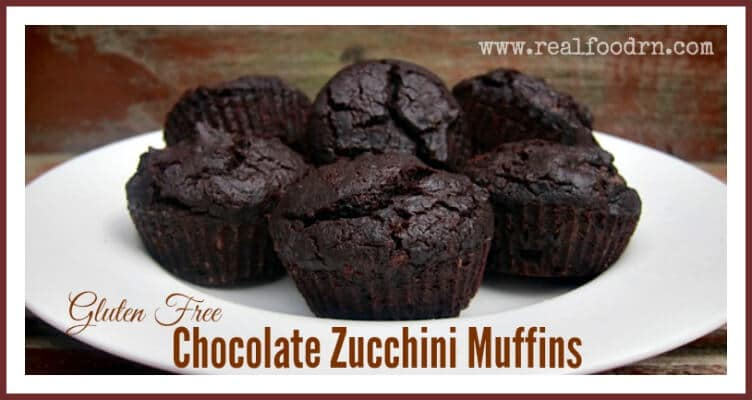 Gluten Free Chocolate Zucchini Muffins | Real Food RN