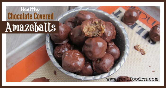 Healthy Chocolate Covered Amazeballs | Real Food RN