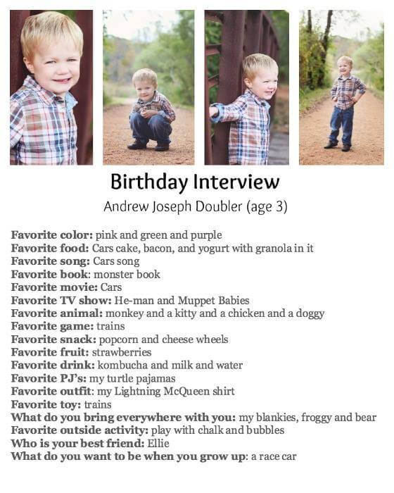 Birthday Party Ideas the Birthday Interview