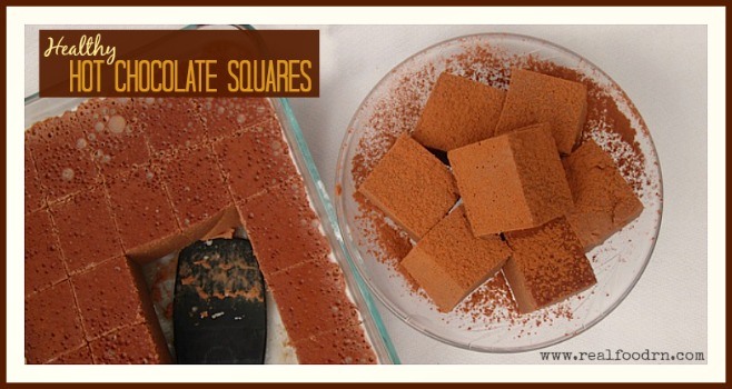 Healthy Hot Chocolate Squares | Real Food RN