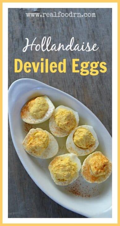 Hollandaise Deviled Eggs | Real Food RN