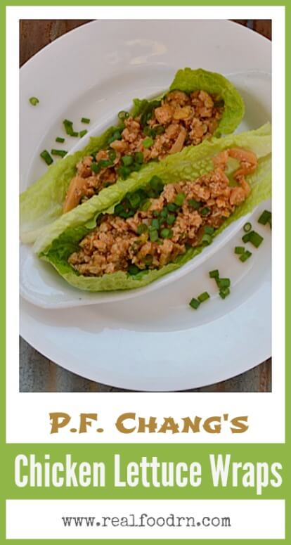 P.F. Chang's Chicken Lettuce Wraps Recipe | Real Food RN