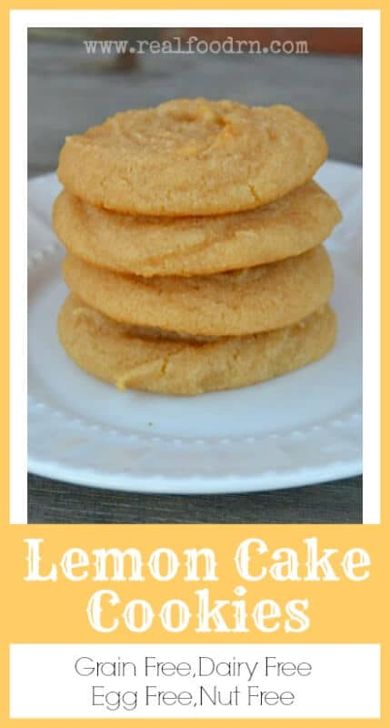 Grain Free Lemon Cake Cookies | Real Food RN