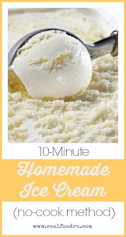 10-Minute Homemade Ice Cream | Real Food RN