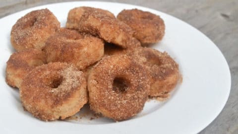 Cinnamon and Sugar Grain-Free Mini Donuts