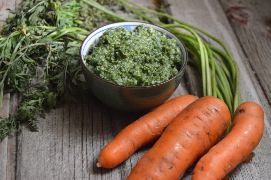 Easy Carrot Top Pesto Recipe | Real Food RN