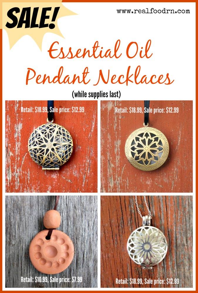 Essential Oil Pendant Diffuser Necklace | Real Food RN
