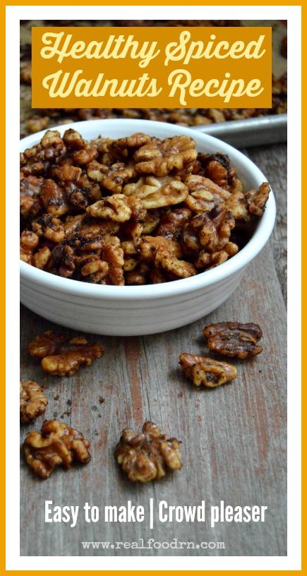 Spiced Walnuts Recipe   Real Food RN