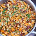 Yam, Celery Root & Bacon Hash