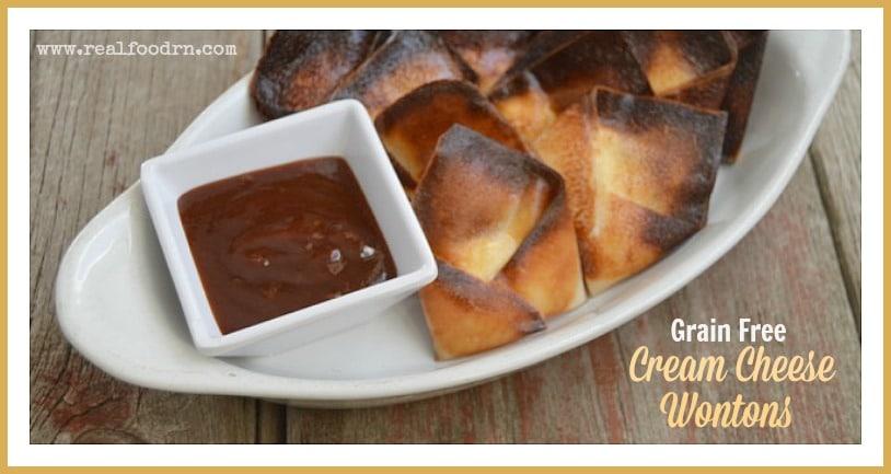 Grain Free Cream Cheese Wontons | Real Food RN