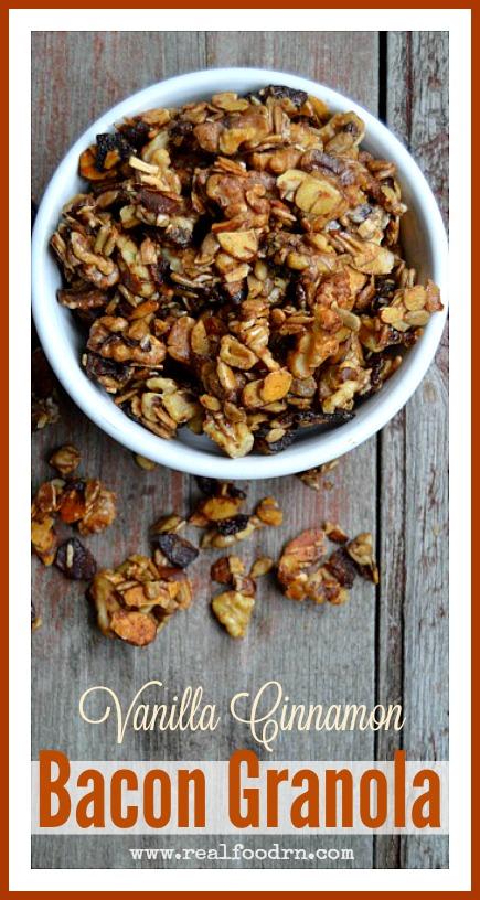 Vanilla Cinnamon Bacon Granola | Real Food RN