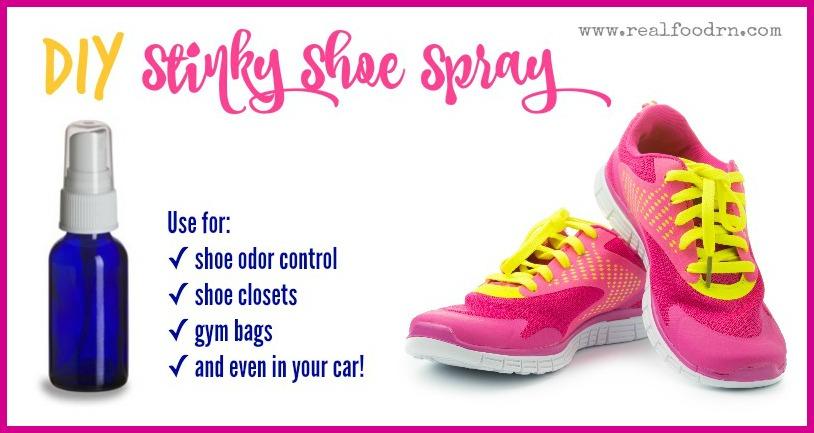 DIY Stinky Shoe Spray | Real Food RN