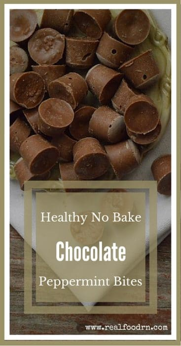 Healthy No Bake Chocolate Peppermint Bites | Real Food RN