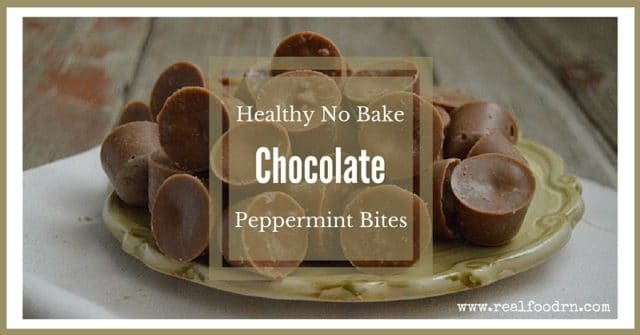 Healthy No Bake Chocolate Peppermint Bites   Real Food RN