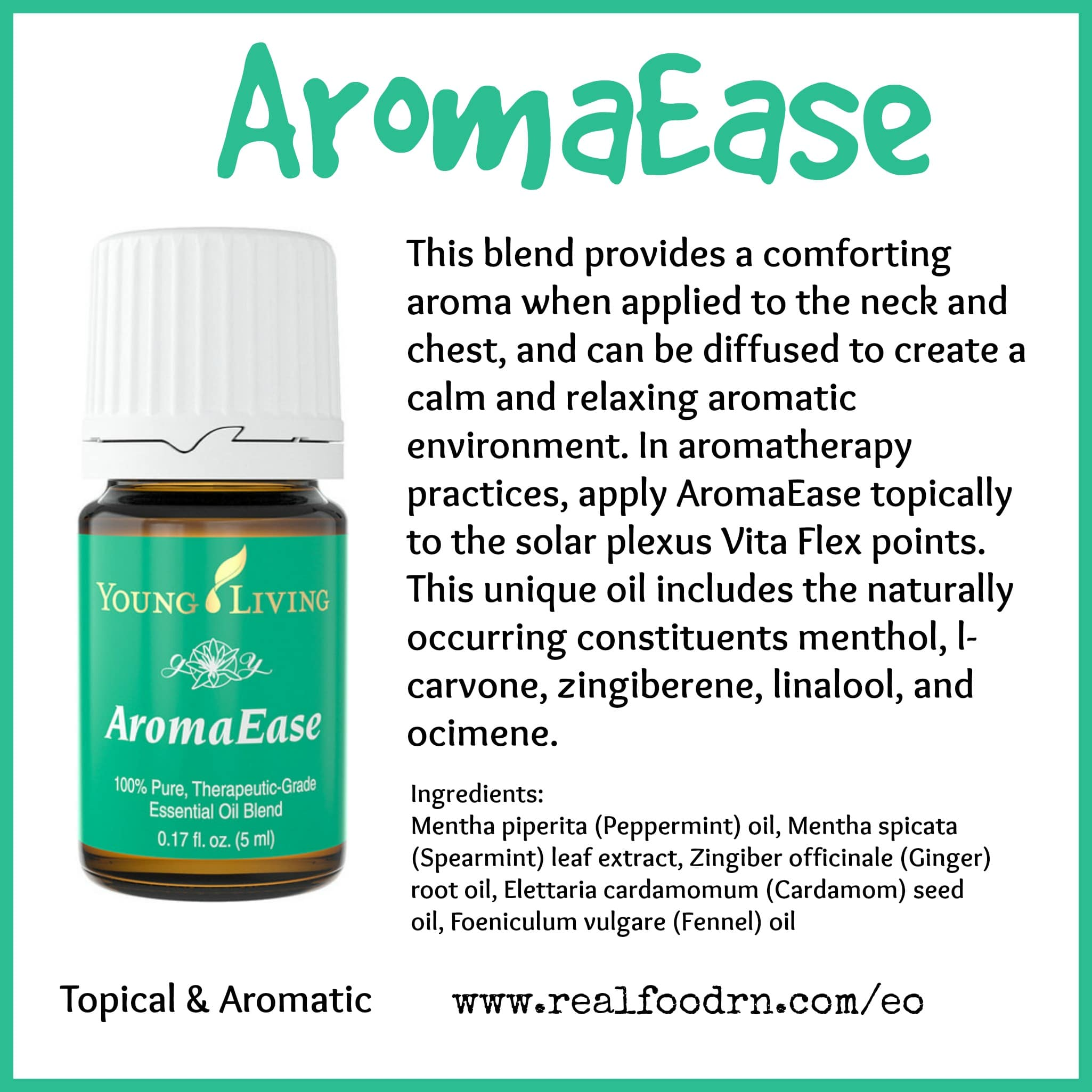 AromaEase Essential Oil Pin