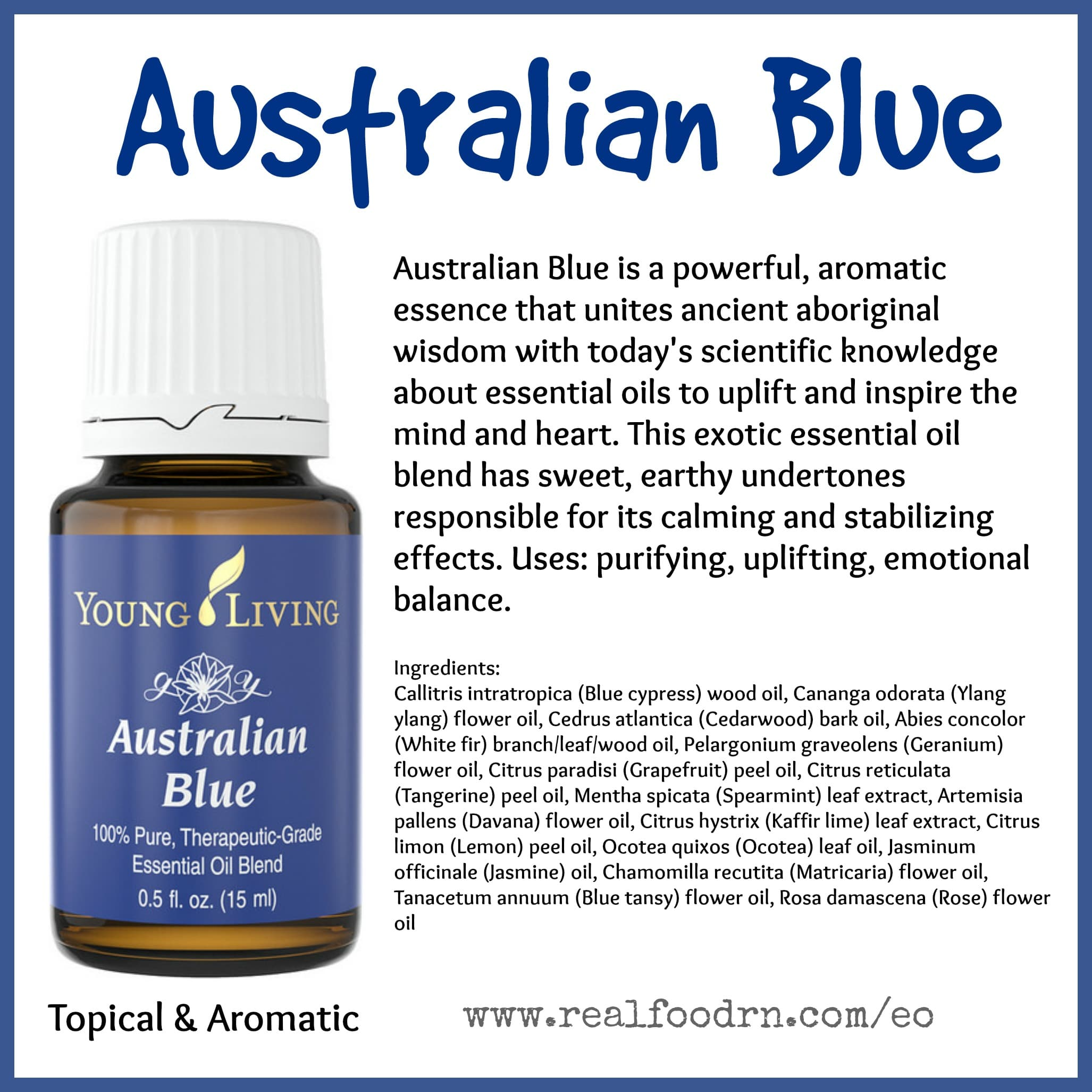 Australian Blue Essential Oil Pin