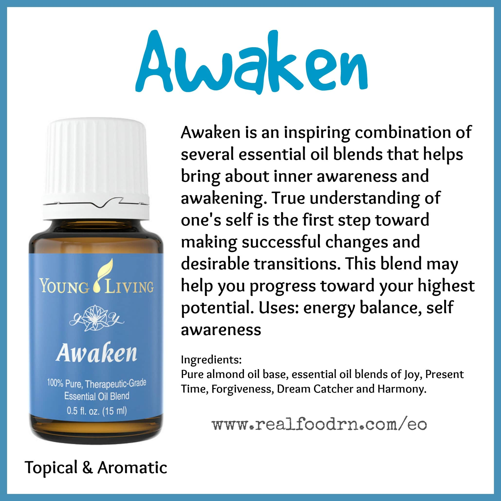 Awaken Essential Oil Pin