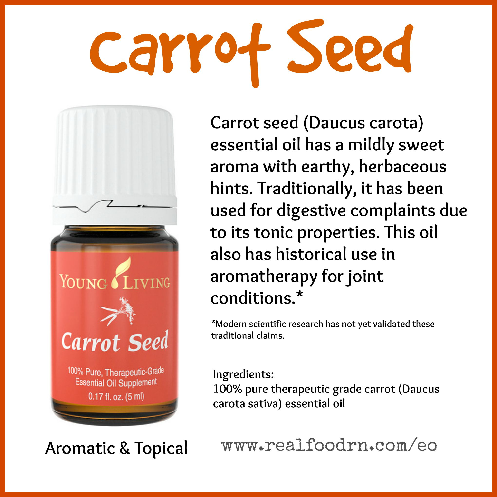 Carrot Seed Essential Oil Pin