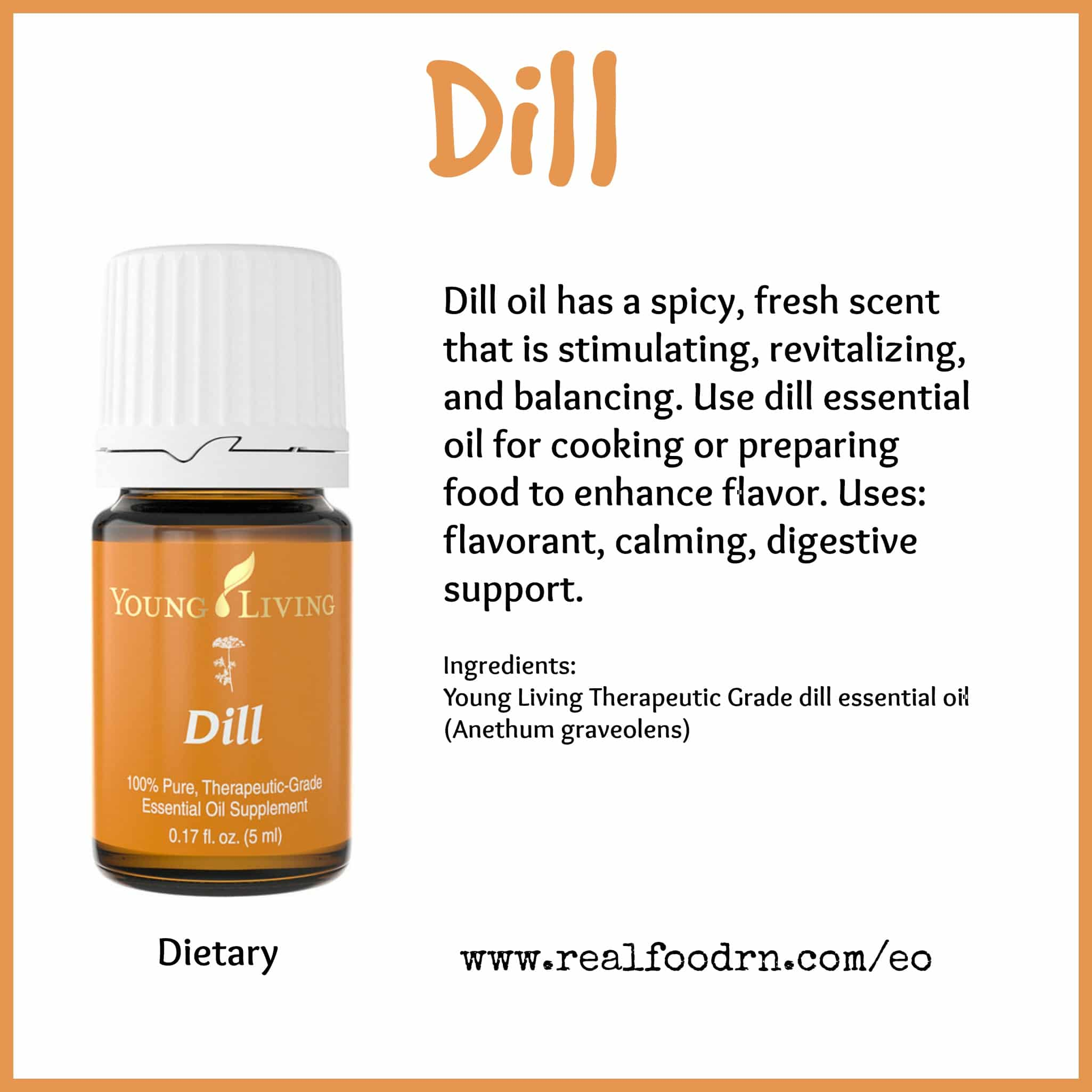 Dill Essential Oil Pin